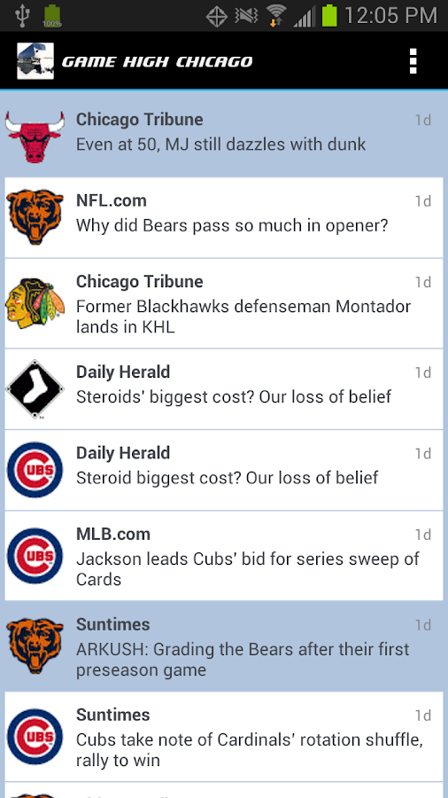 GAME HIGH Chicago Sports- screenshot