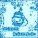 Kawaii Christmas Go Sms Pro icon