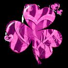 Zebra Heart Theme GO Launcher icon