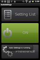 Screenshot of Auto Settings