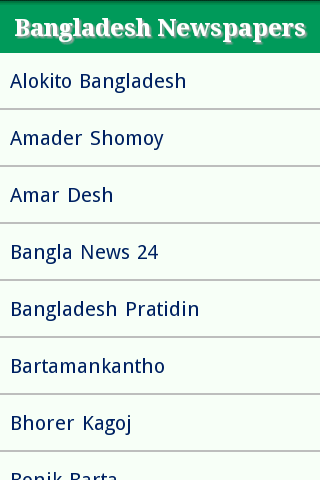 Bangladesh Newspaper Site List