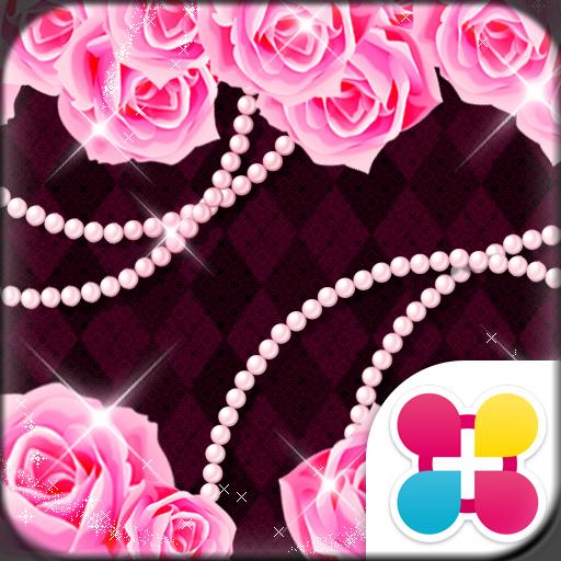 バラ壁紙 Glitter rose Icon