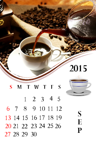 Coffee Cup 2015 Calendar