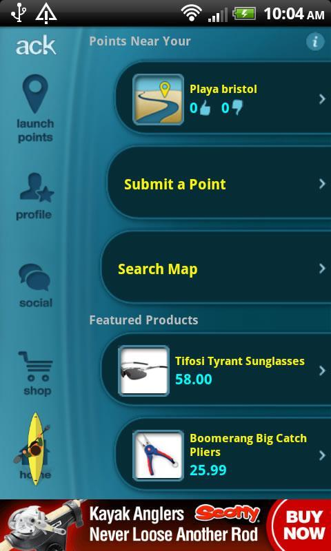 ACK Kayak Launch Points 2.0 - screenshot