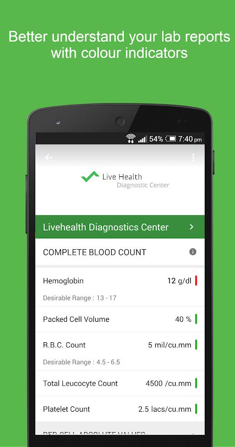 Livehealth - screenshot