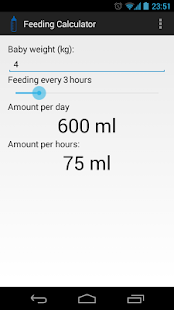 Feeding Calculator