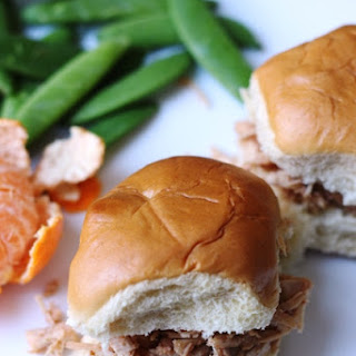 Sweet and Sour Pulled Chicken Sandwiches.