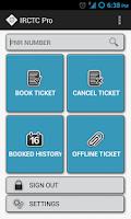 Screenshot of IRCTC Pro