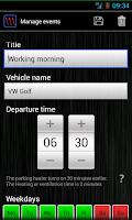 Screenshot of ParkingHeaterApp