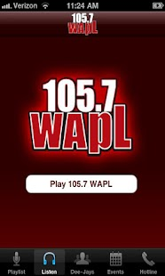 105.7 WAPL- screenshot thumbnail