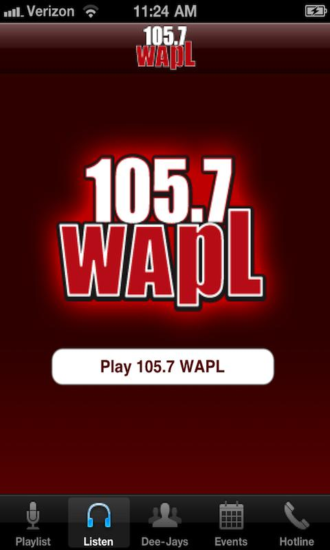 105.7 WAPL - screenshot
