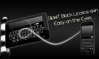 Screenshot of SlideIT Black Licorice Skin