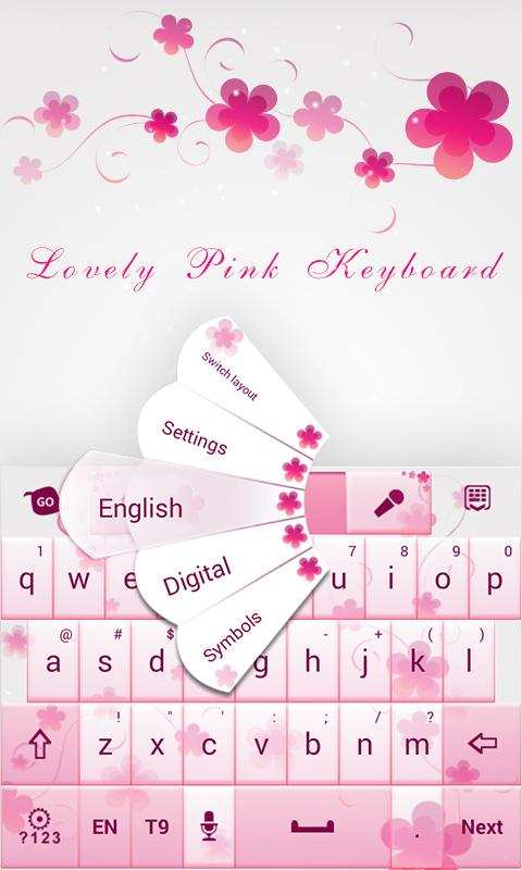 Love Light GO Keyboard Theme- screenshot