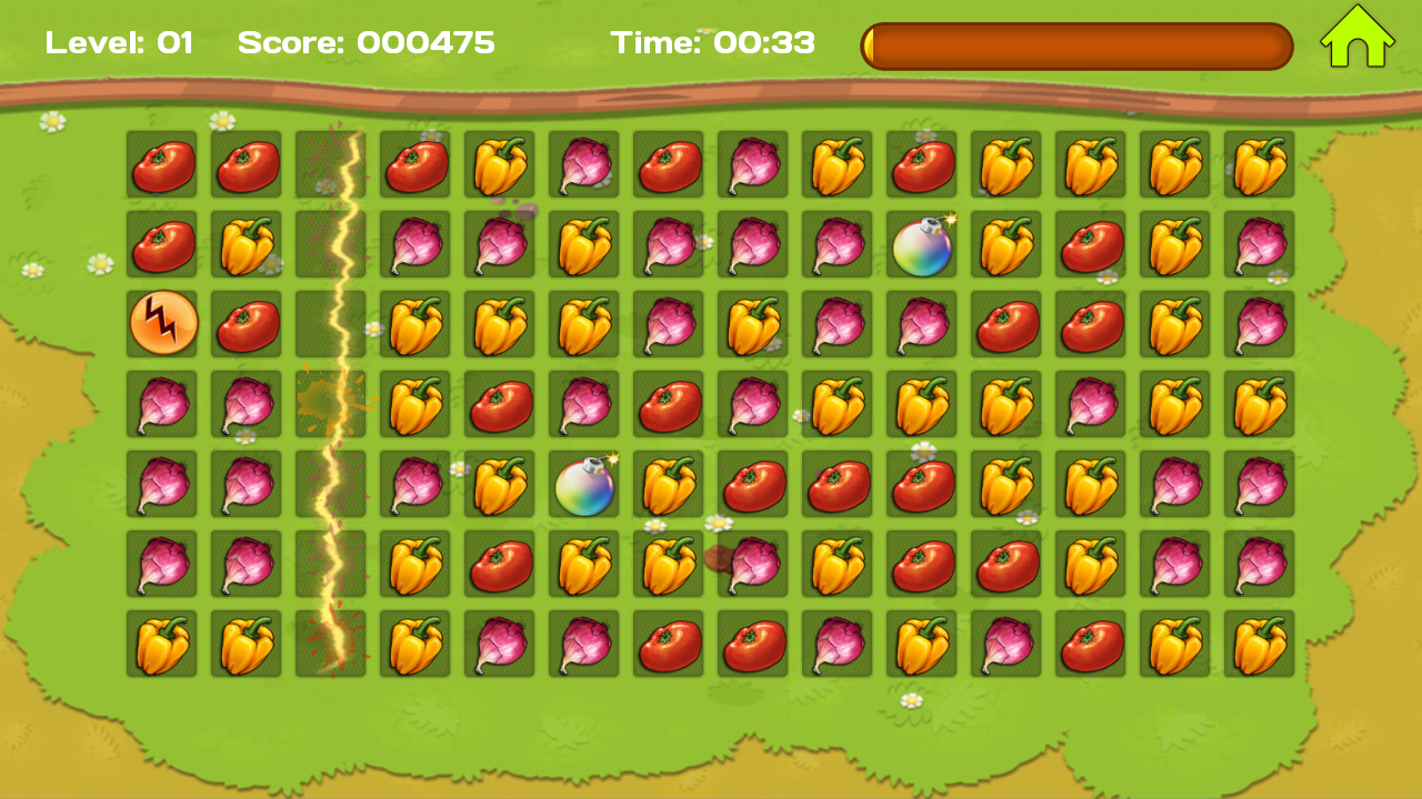 Fruit pop crush game - Vegetable Crush Screenshot