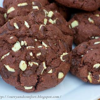 Grasshopper Fudge Mint Cookies