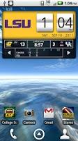 Screenshot of LSU Tigers Live Clock