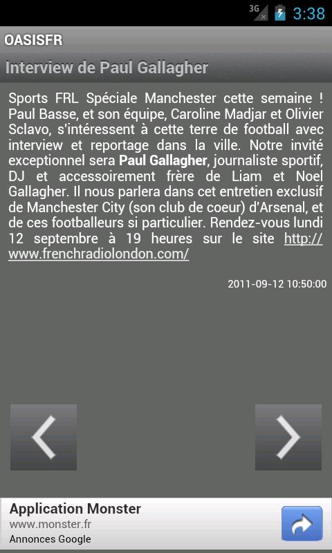 News OasisFr- screenshot