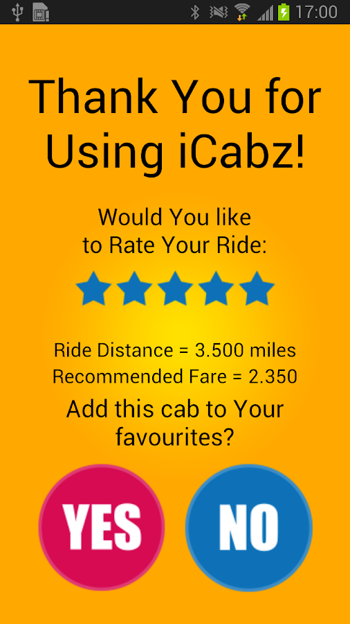 iCabz Passenger- screenshot