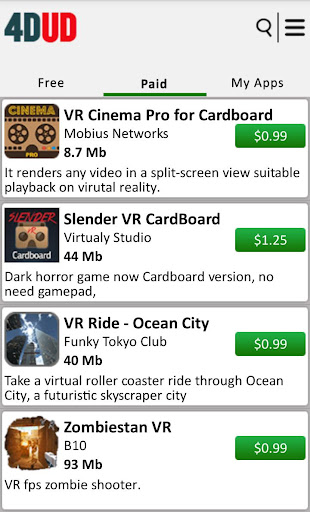 4DUD VR Apps