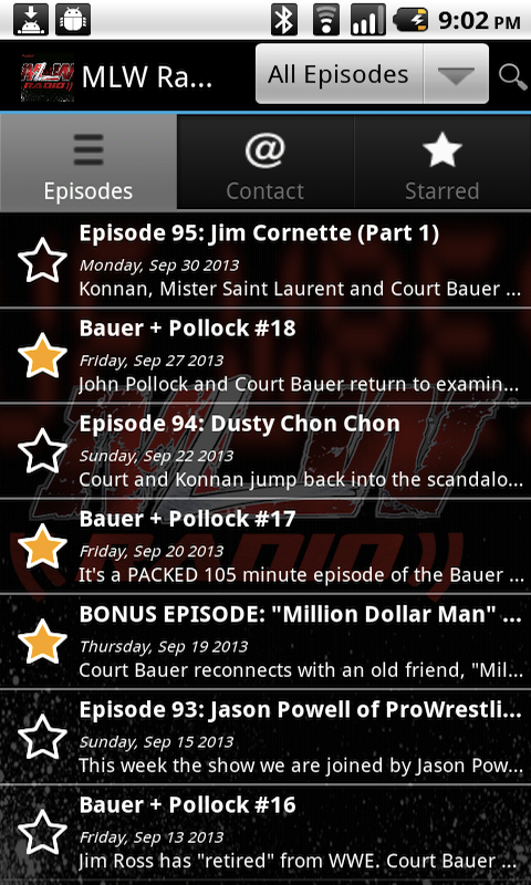 MLW Radio - screenshot