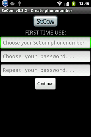 SeCom - encrypted messages- screenshot