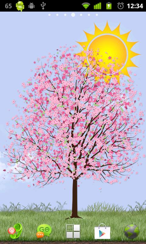 Lonely Cherry Blossom Tree LW - screenshot