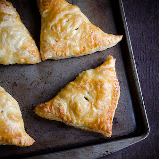 Apple, Sweet Potato and Bacon Turnovers.