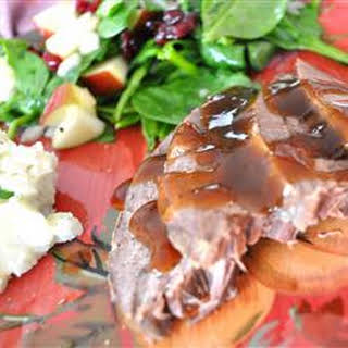 Slow Cooker Apple-Scented Venison Roast.
