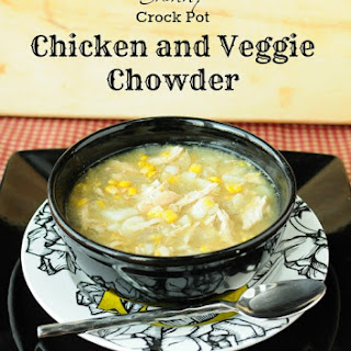 Skinny Crock Pot Chicken and Veggie Chowder
