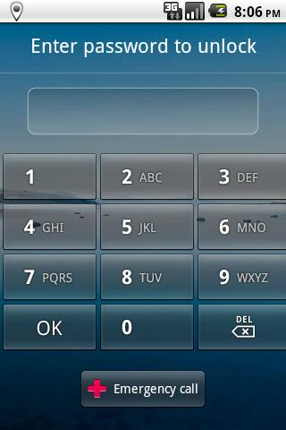 Locale Password Lock Plug-in - screenshot