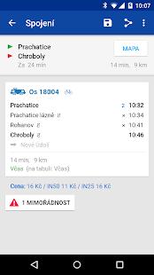 Offline Jízdní řády CG Transit Screenshot 5