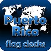 Puerto Rico flag clocks