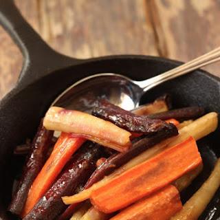 Honey Coriander Roasted Carrots.