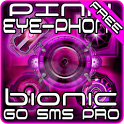 Pink Bionic Free GO SMS Theme icon
