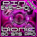 Pink Bionic Free GO SMS Theme icon