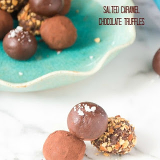 Salted Caramel Chocolate Truffles.