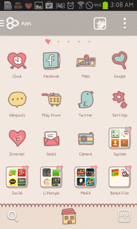 YongYong(Love) go launcher - screenshot
