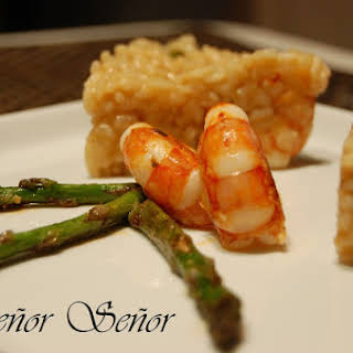 Wild Asparagus and Shrimp Risotto.