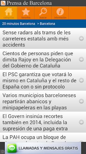 Prensa de Barcelona