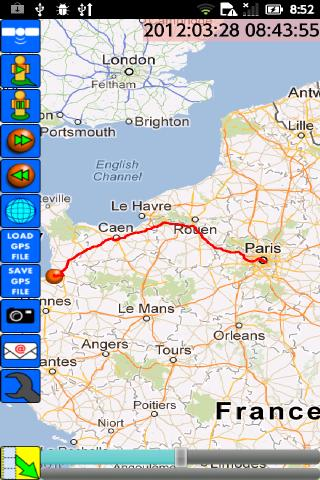 GPS Travel Recorder - screenshot