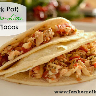 {Crock Pot} Cilantro-Lime Fish Tacos.