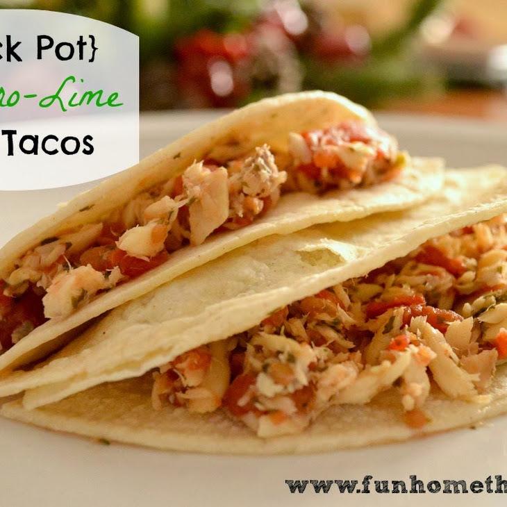 {Crock Pot} Cilantro-Lime Fish Tacos
