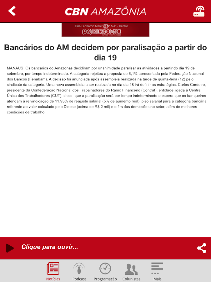 CBN Amazônia- screenshot