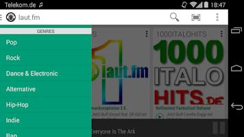 Screenshot of laut.fm Radio