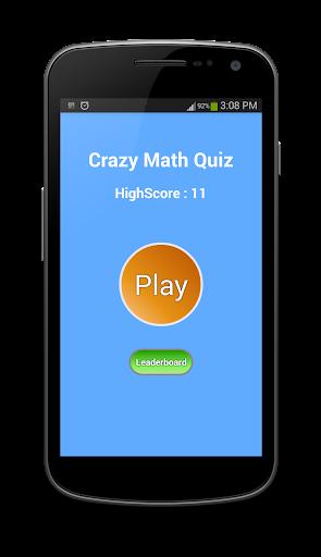 Crazy Math Quiz