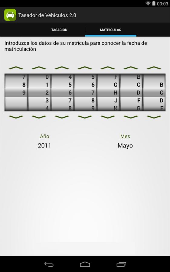 Tasador de Vehículos - screenshot