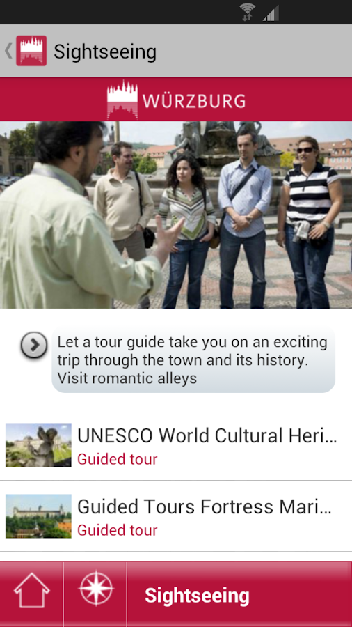 Würzburg - mobile travel guide - screenshot