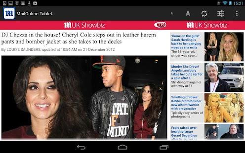 Daily Mail Online Tablet - screenshot thumbnail