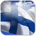 3D Finland Flag + icon