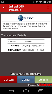 Entrust IdentityGuard Mobile- screenshot thumbnail